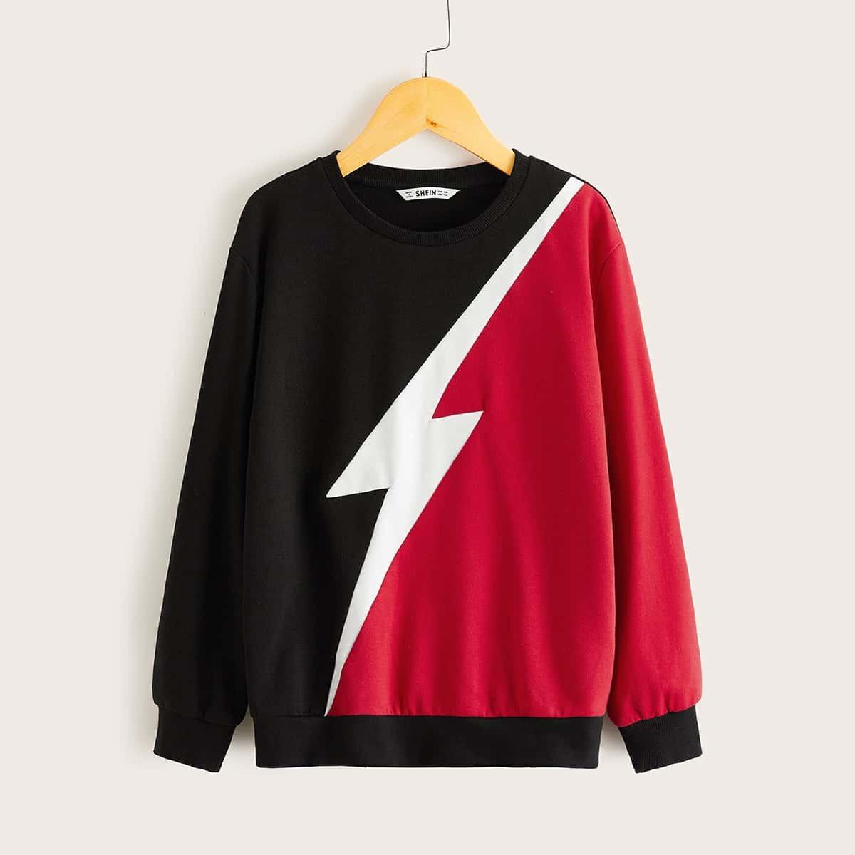 Veel kleurig Casual Jongens Sweatshirts Kleurblok