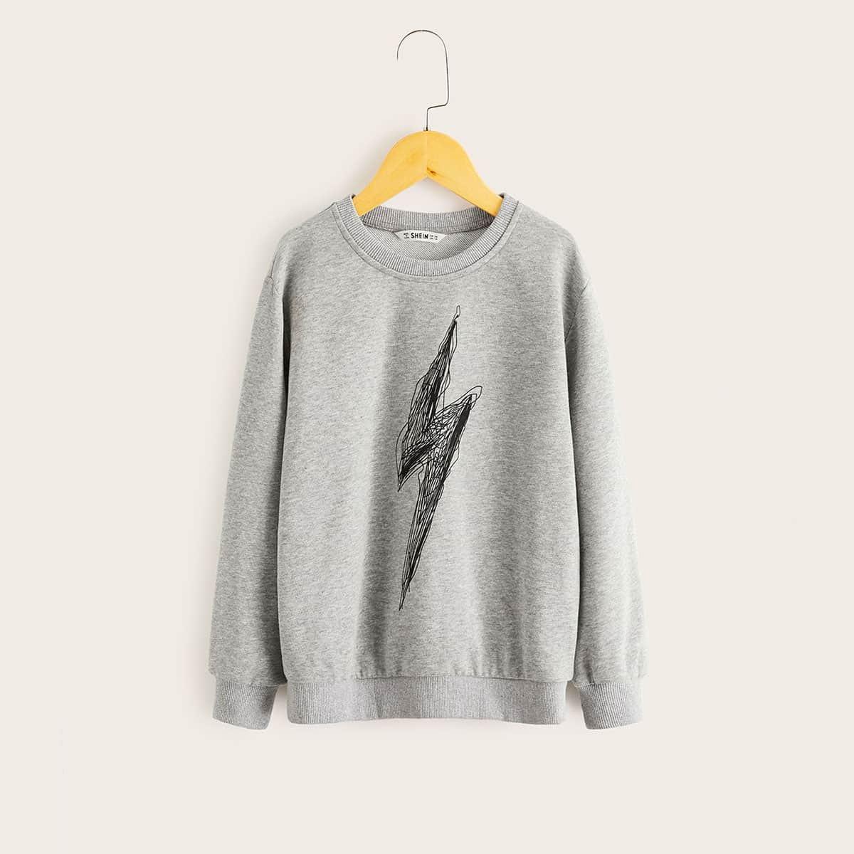 Grijs Casual Jongens Sweatshirts