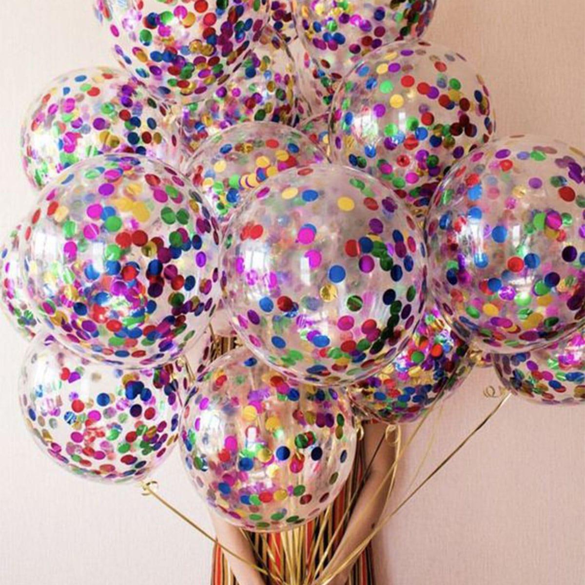 12 Inch Confetti Ballon 10st