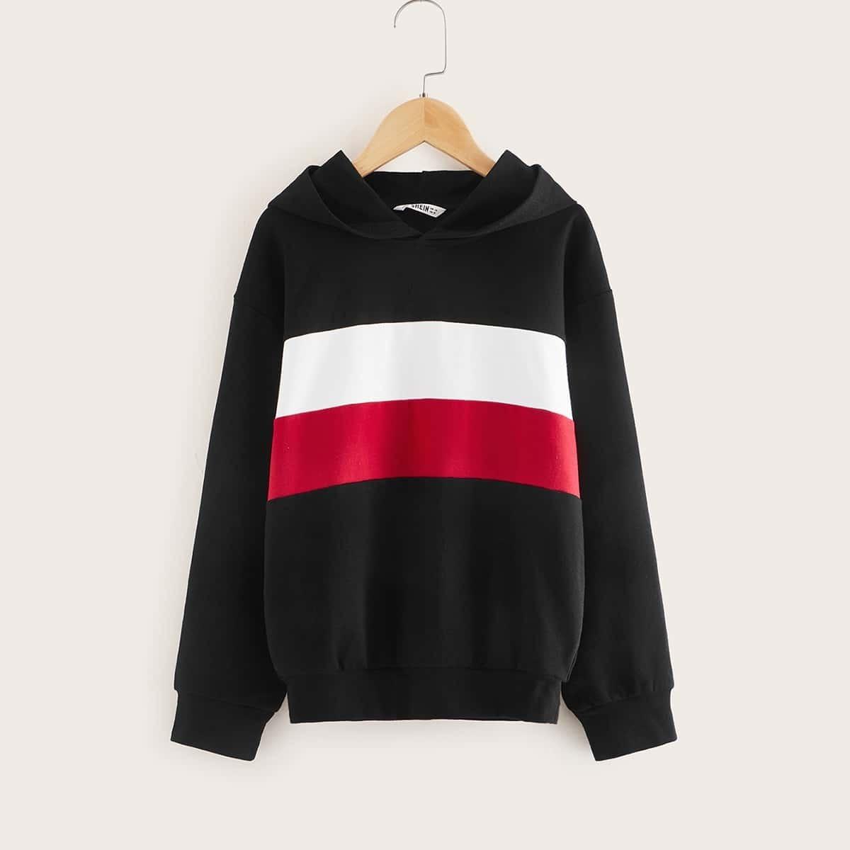 Zwart Sporten Jongens Sweatshirts Kleurblok