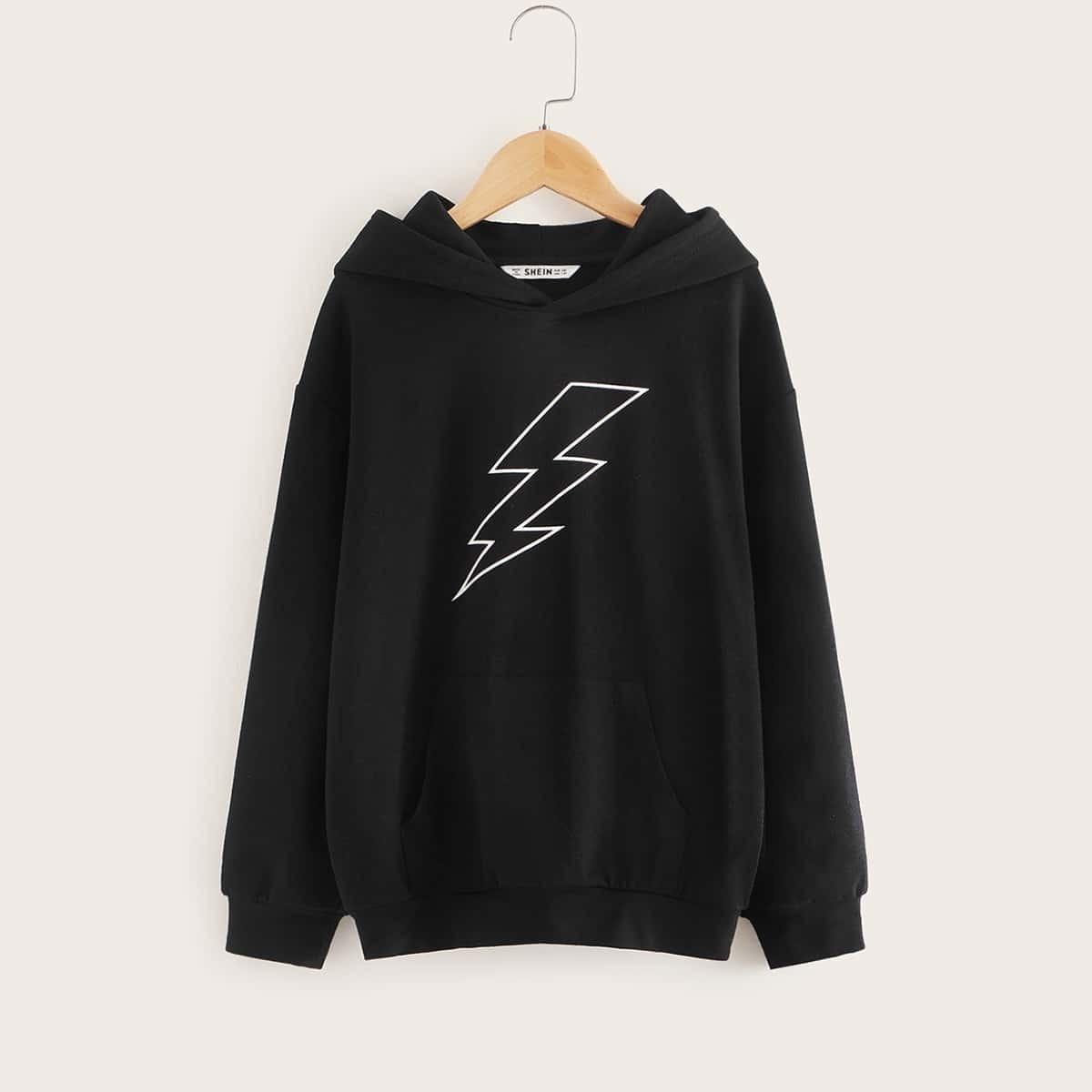 Zwart Casual Jongens Sweatshirts