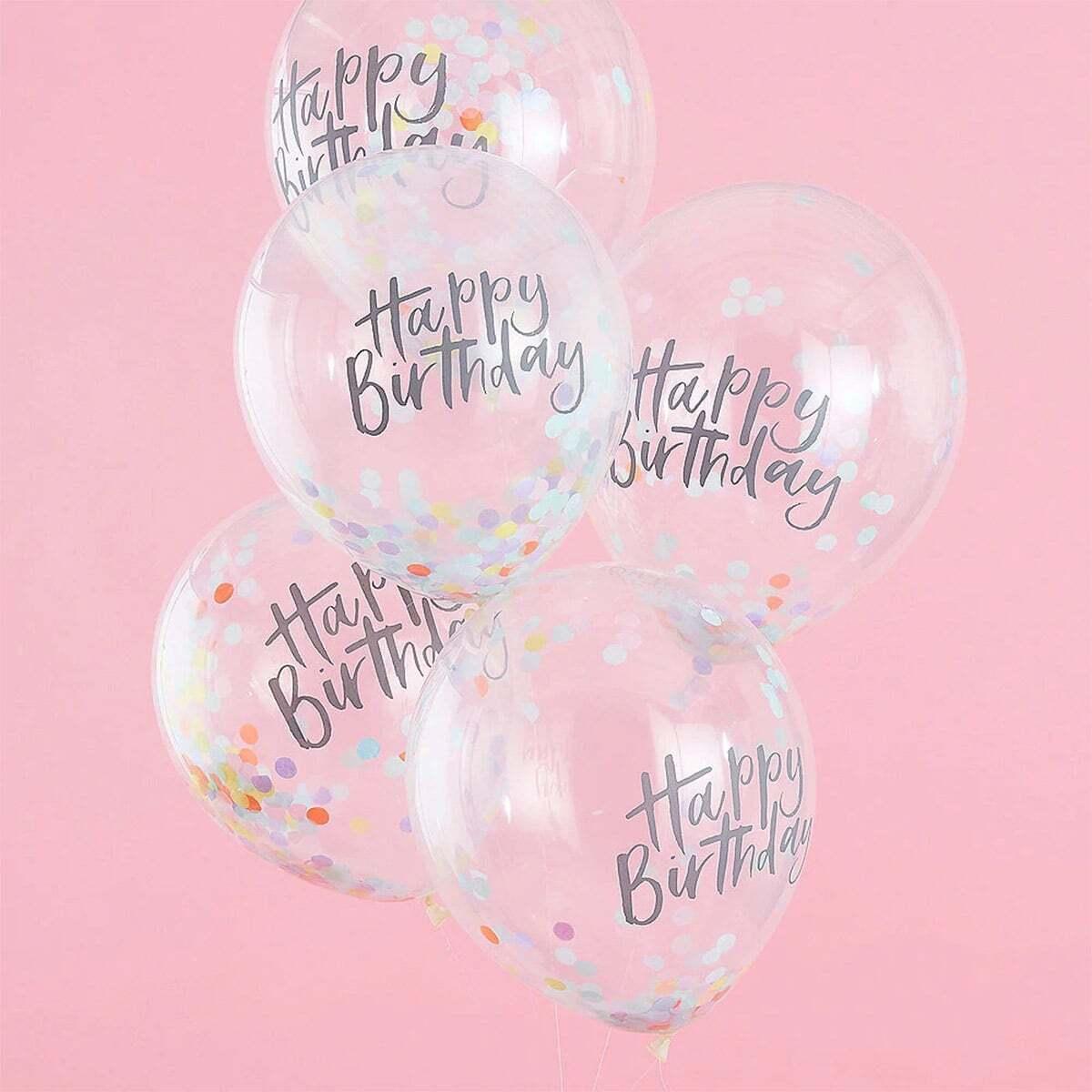 5 stks Letter Print Confetti Ballon