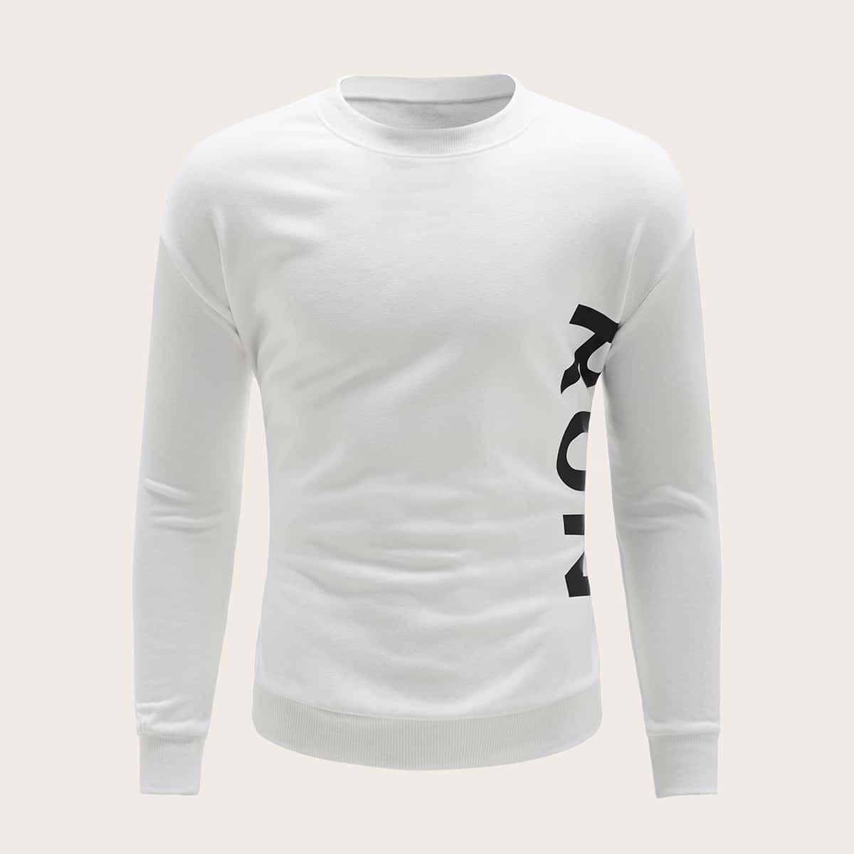 Wit Casual Tekst Sweatshirts voor heren