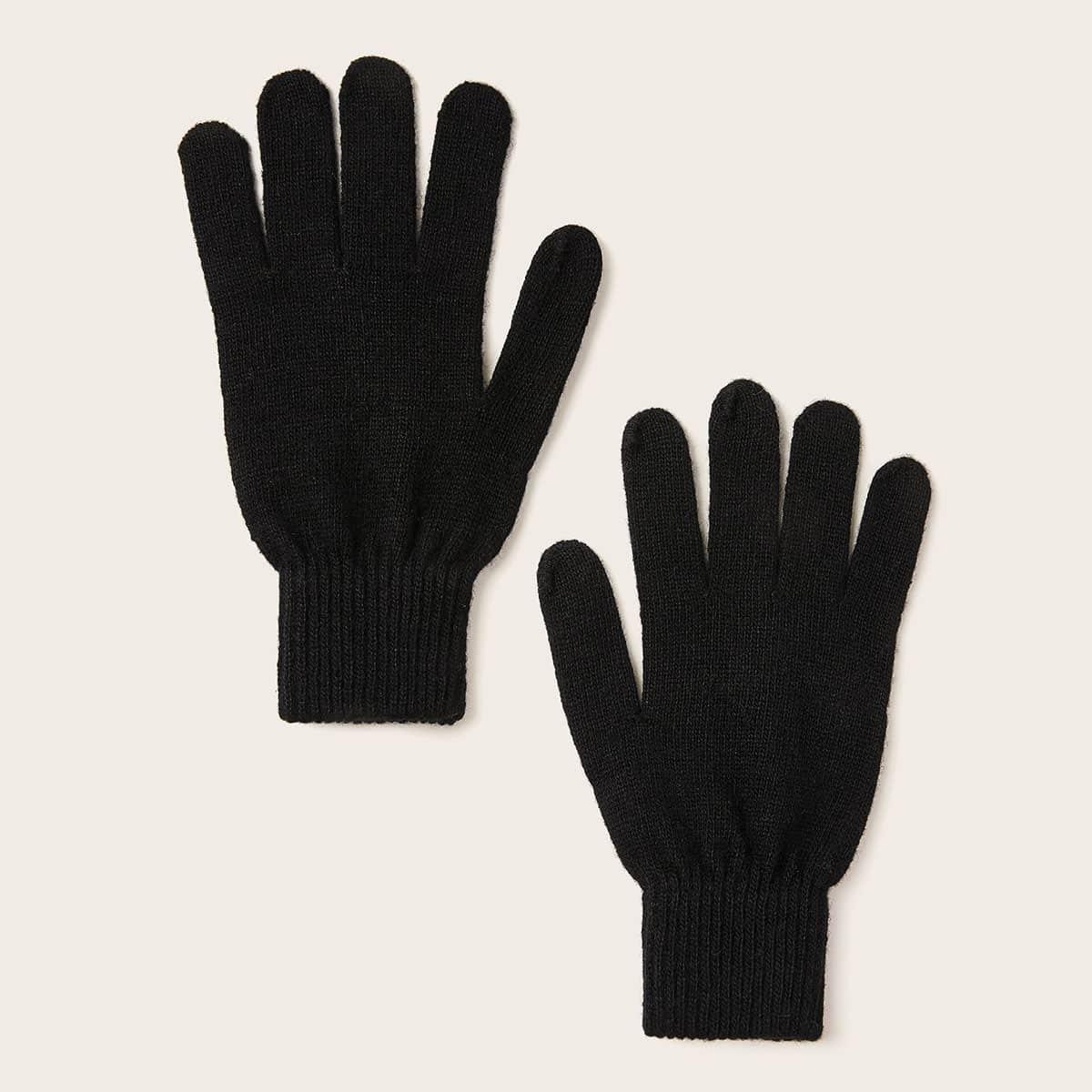 1 pair Sarung Tangan Rajut Sederhana