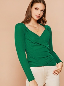 Ruched | Wrap | Knot | Neck | Top