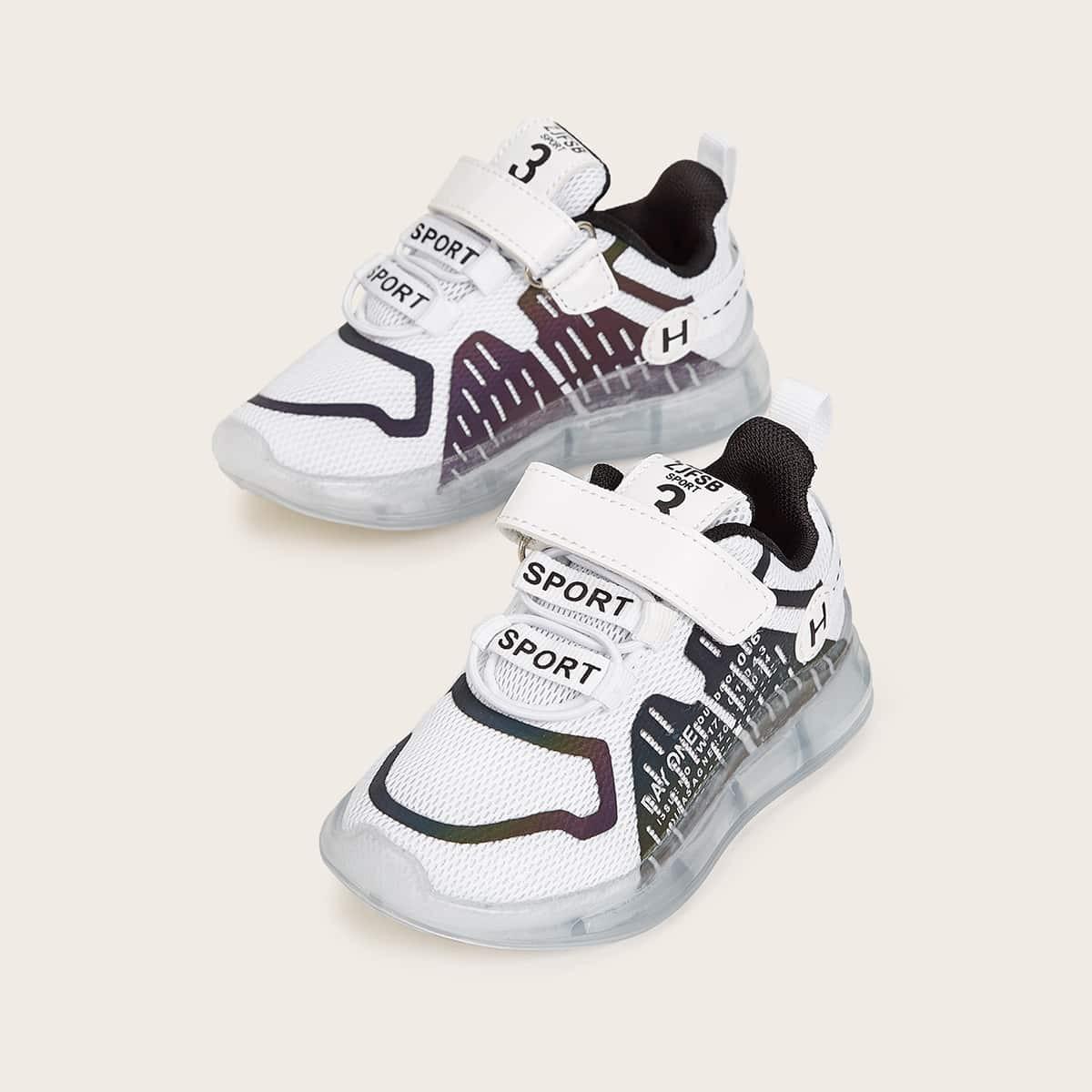 Veel kleurig Casual Tekst Baby sneakertjes