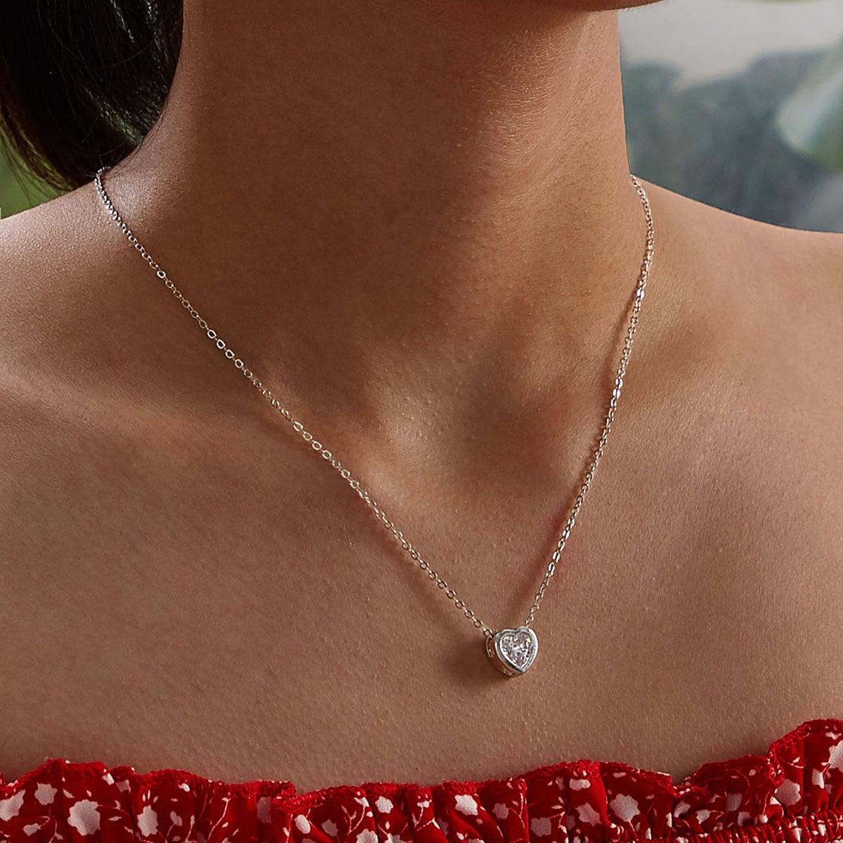 SHEIN / Herz Charm Halskette 1pc