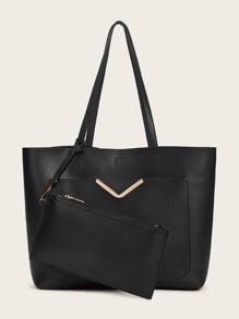 Solid   Tote   Bag