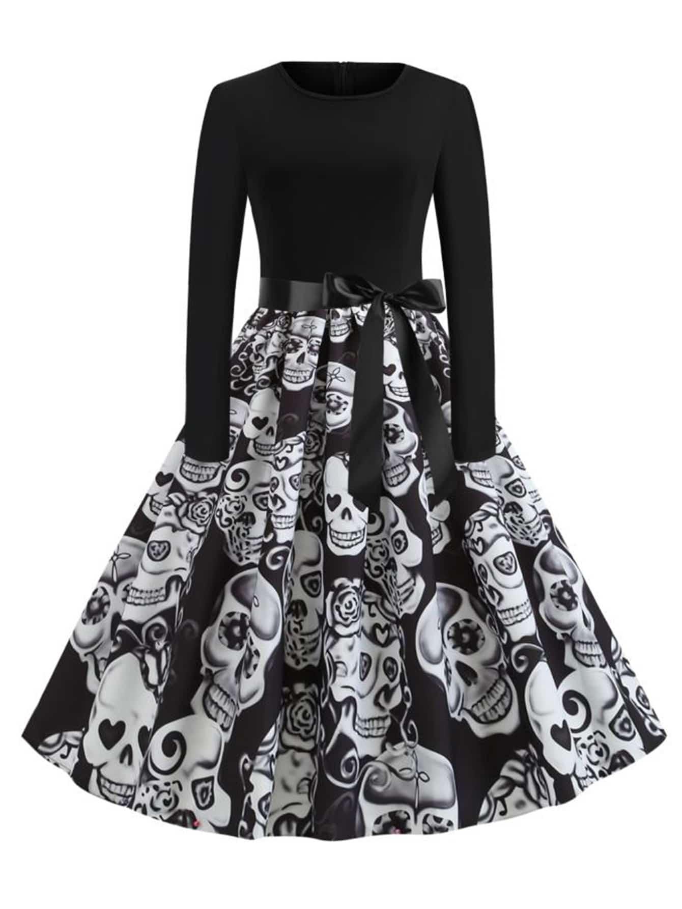 Платье размера плюс с принтом
