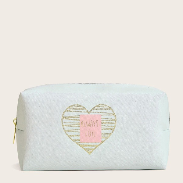 Heart Pattern Makeup Bag