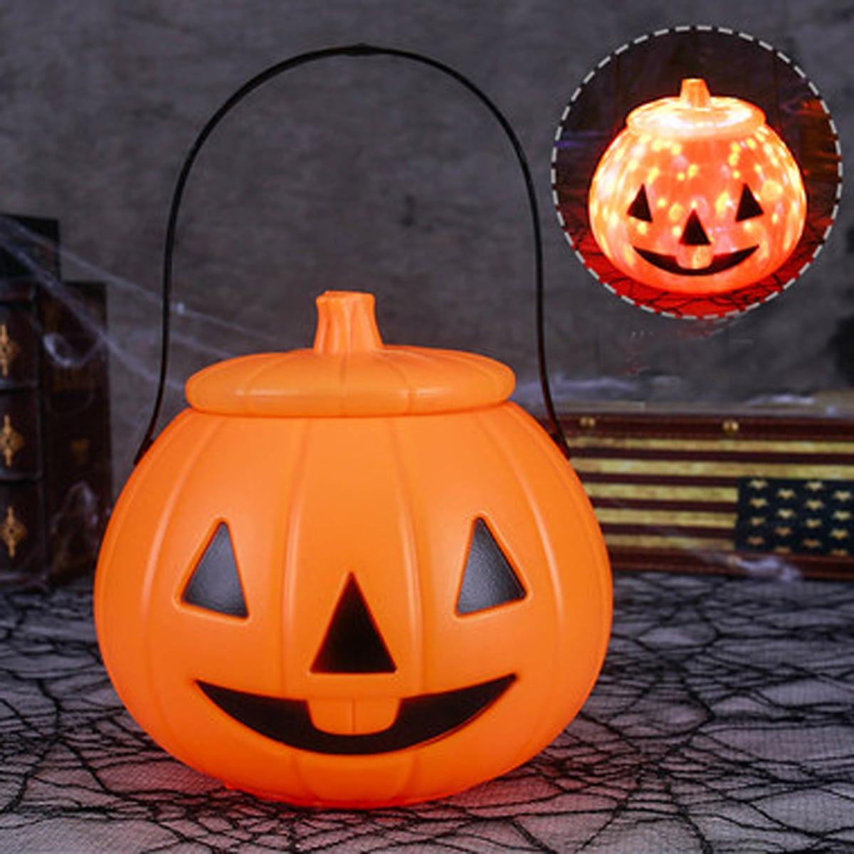 Halloween-pompoenvormige draagbare koperen lantaarn