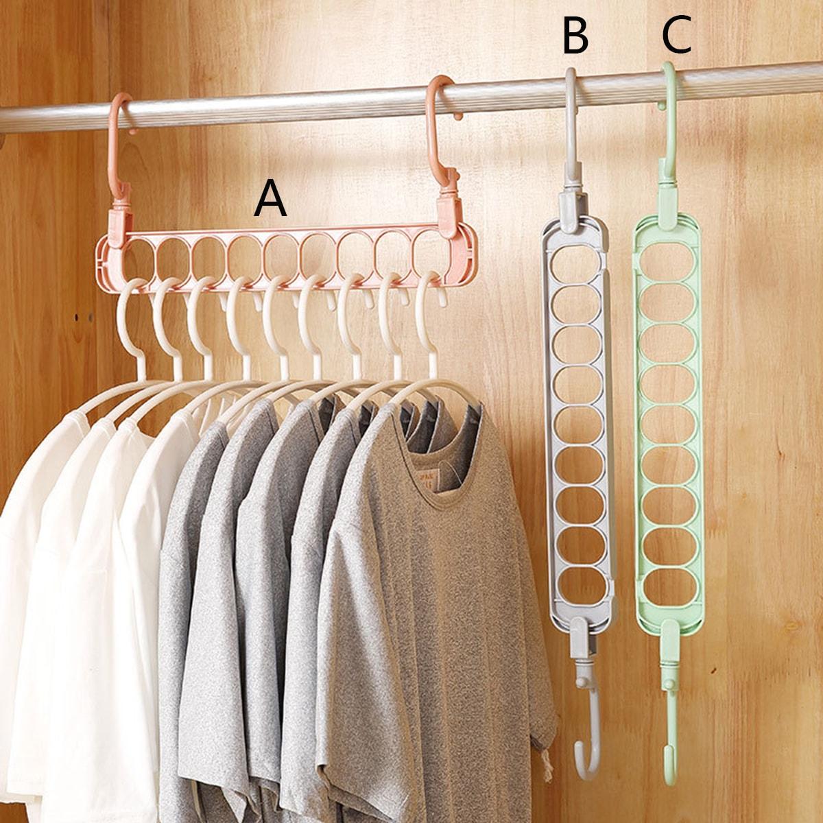 1pc roterende 9-gaats kledinghanger