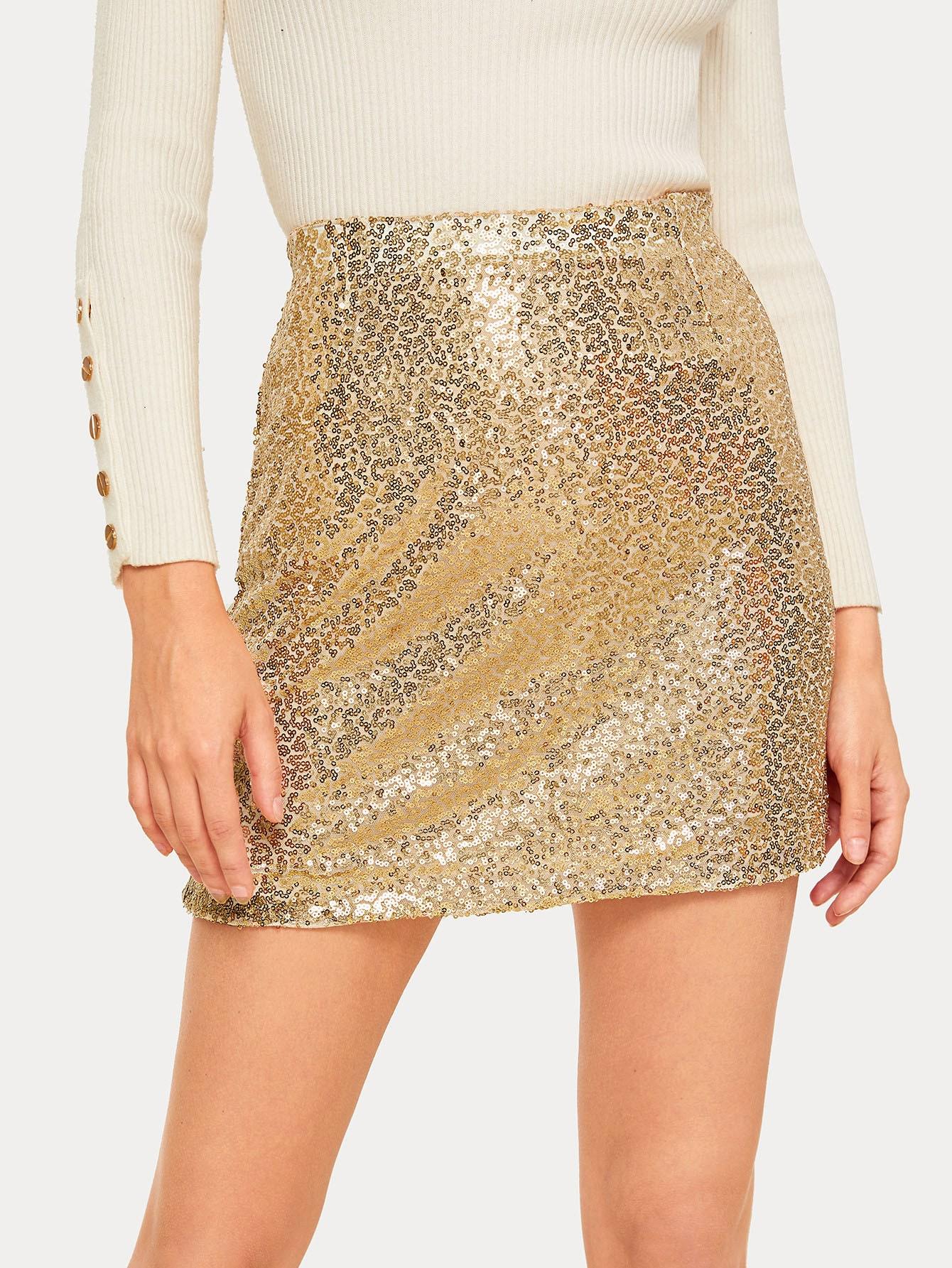 Мини-юбка с блестками