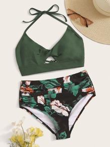 Tropical | Swimsuit | Halter | Bikini | Floral | Back