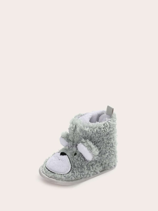 Baby Girls Cartoon Animal Teddy Booties