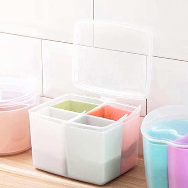 1pc Multi Compartment Kitchen Seasoning Storage Box