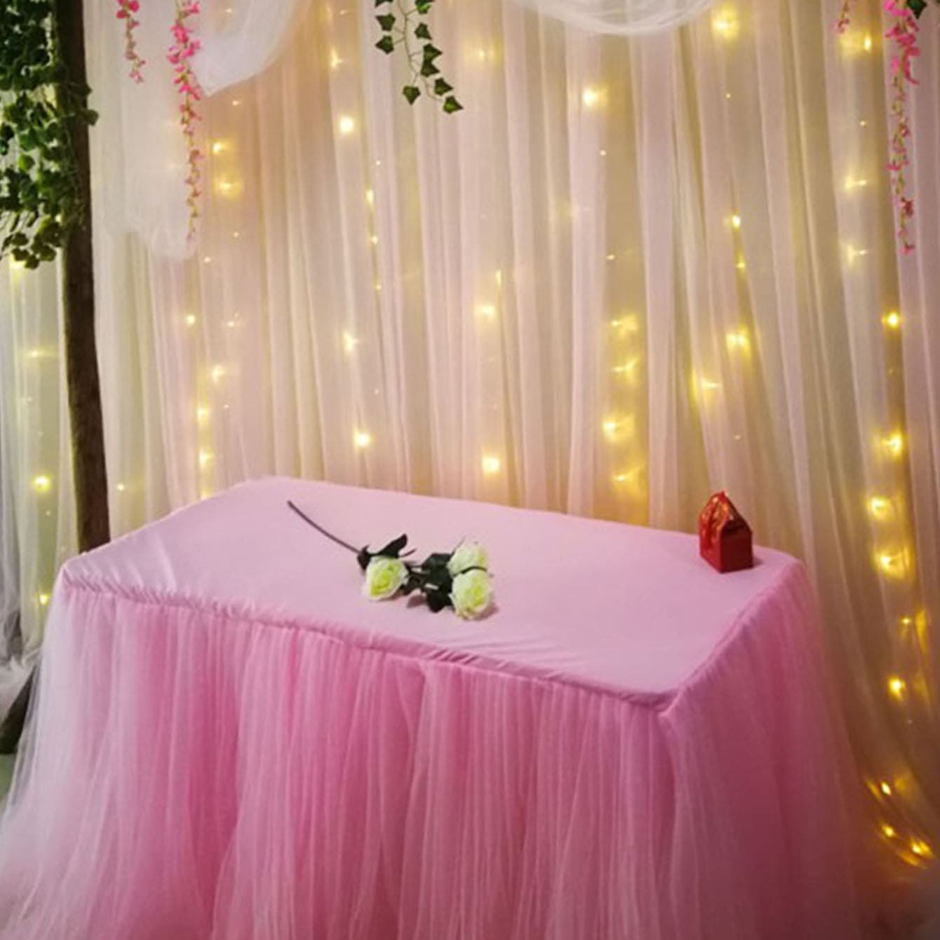 Effen bruiloft decoratief gaas 22M