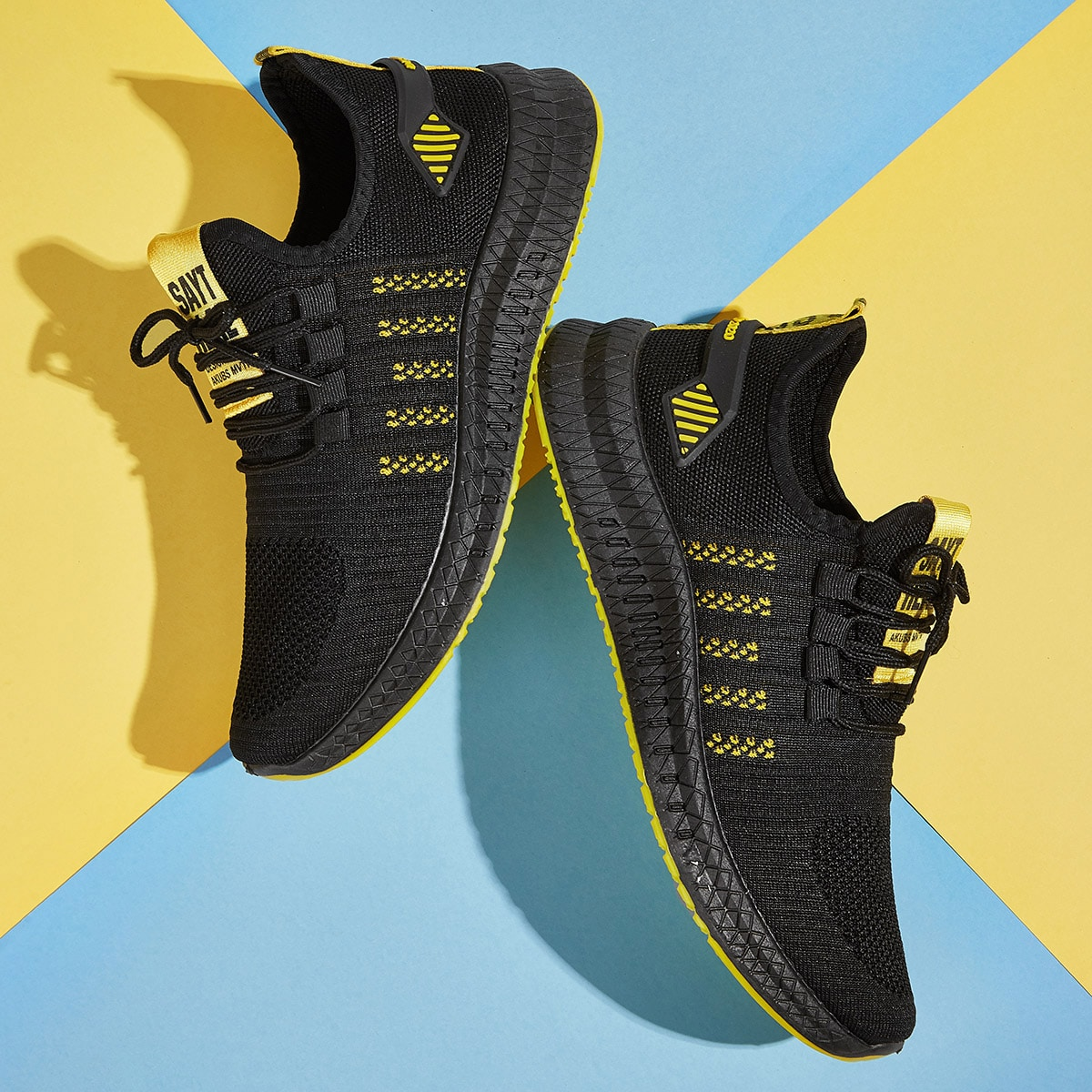 Zwart Comfortabel Kant Heren sneakers