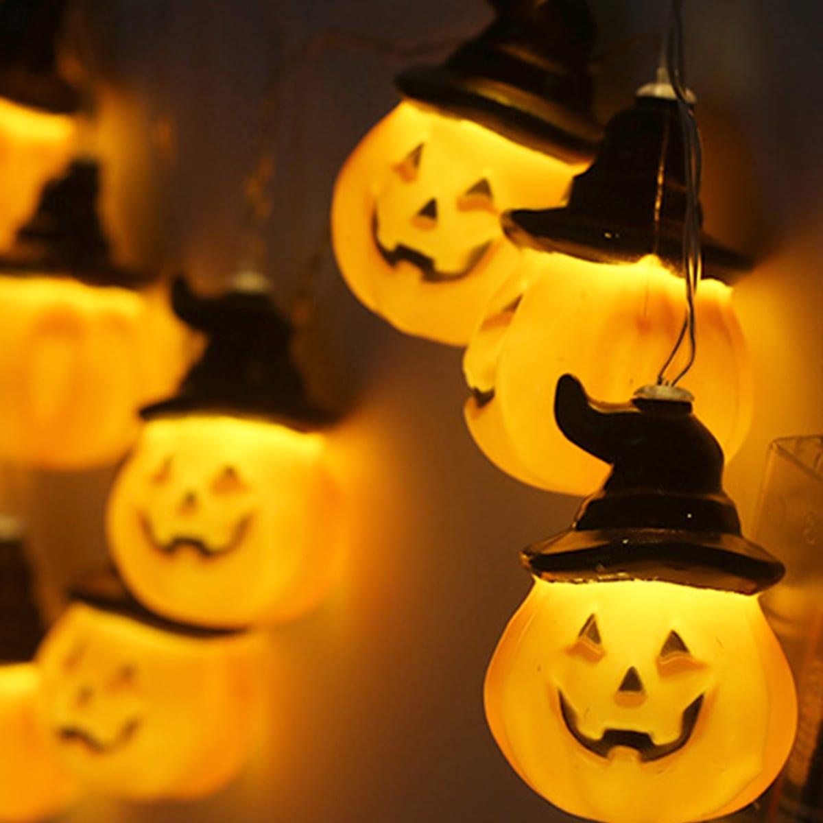 10 stks Pumpkin Hat Shaped Bulb String Light