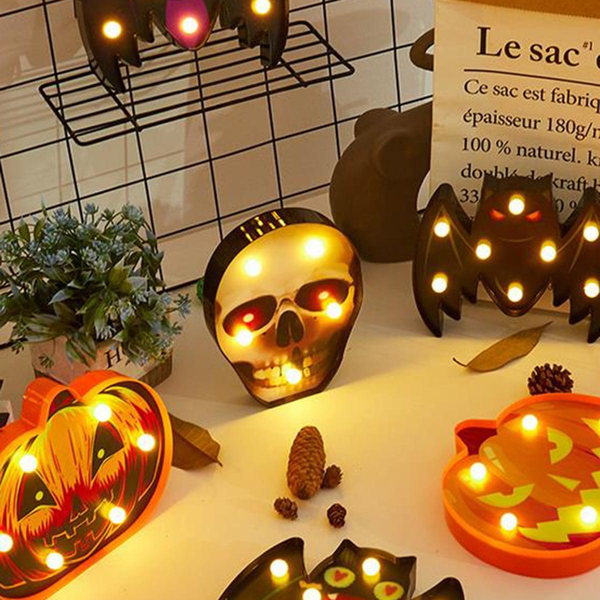 1pc Halloween pompoen en schedel decoratief licht