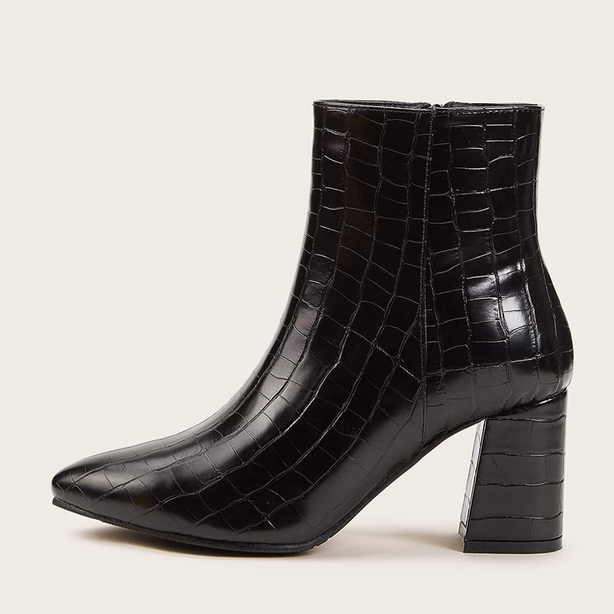 Zwart Feest Krokodil Laarzen