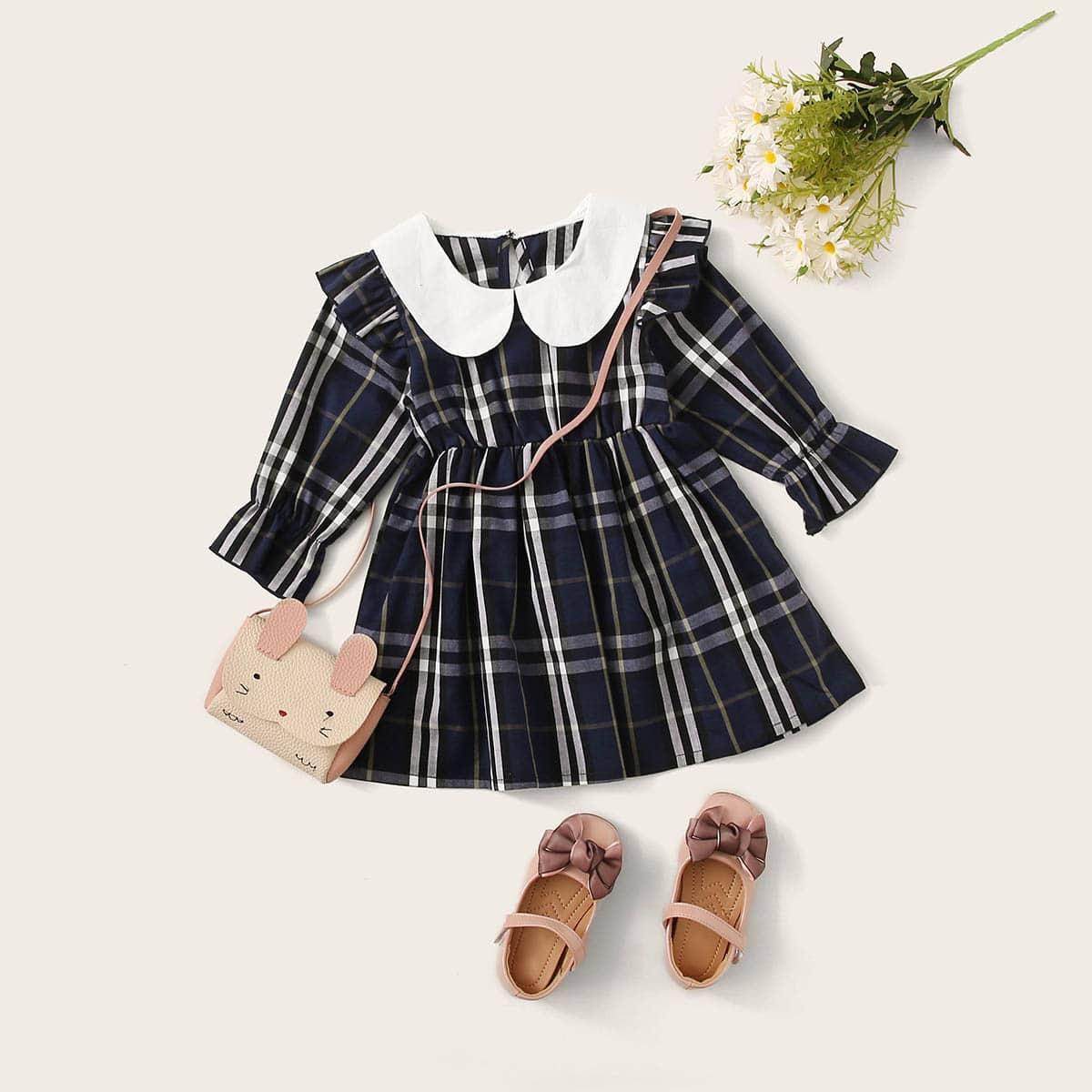Платье с оригинальным вырезом без сумки для девочек от SHEIN