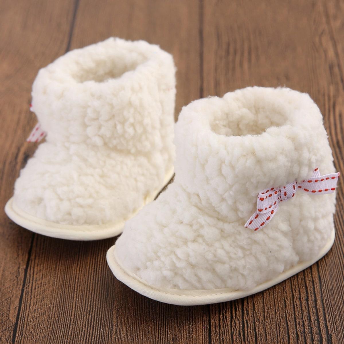 Beige Comfortabel Vlak Baby laarsjes