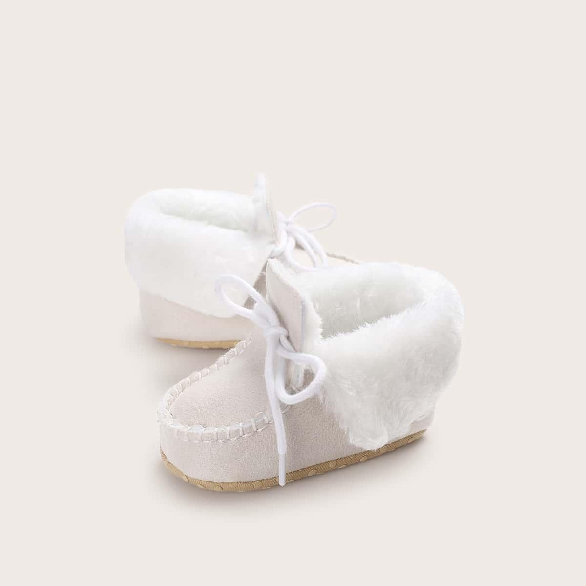 Wit Comfortabel Vlak Baby laarsjes