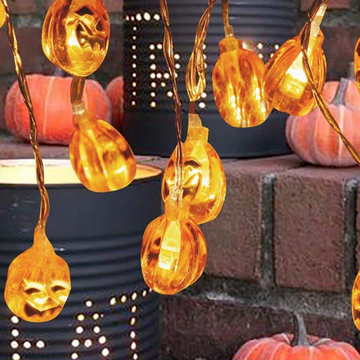 10st Halloween pompoenvormige lamp String Light