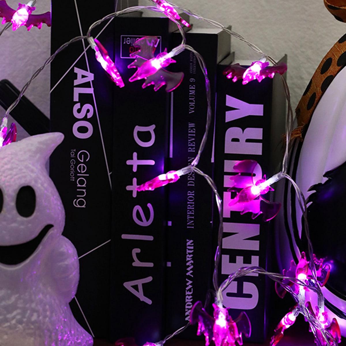 20 stks Halloween Bat vormige lamp String Light
