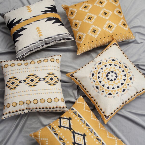 1pc Bohemian Geometric Pattern Cushion Cover
