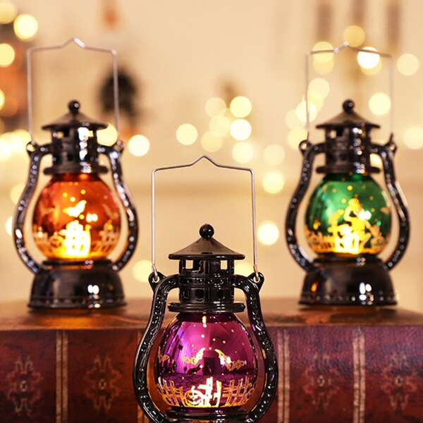 1pc Halloween Vintage Portable Kerosene Lamp