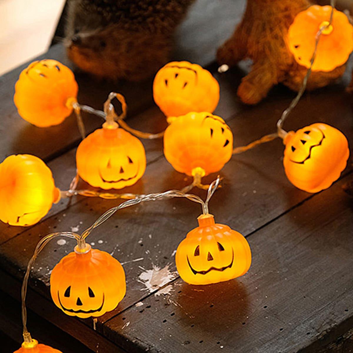 20 stks Halloween Pumpkin Shaped Bulb String Light