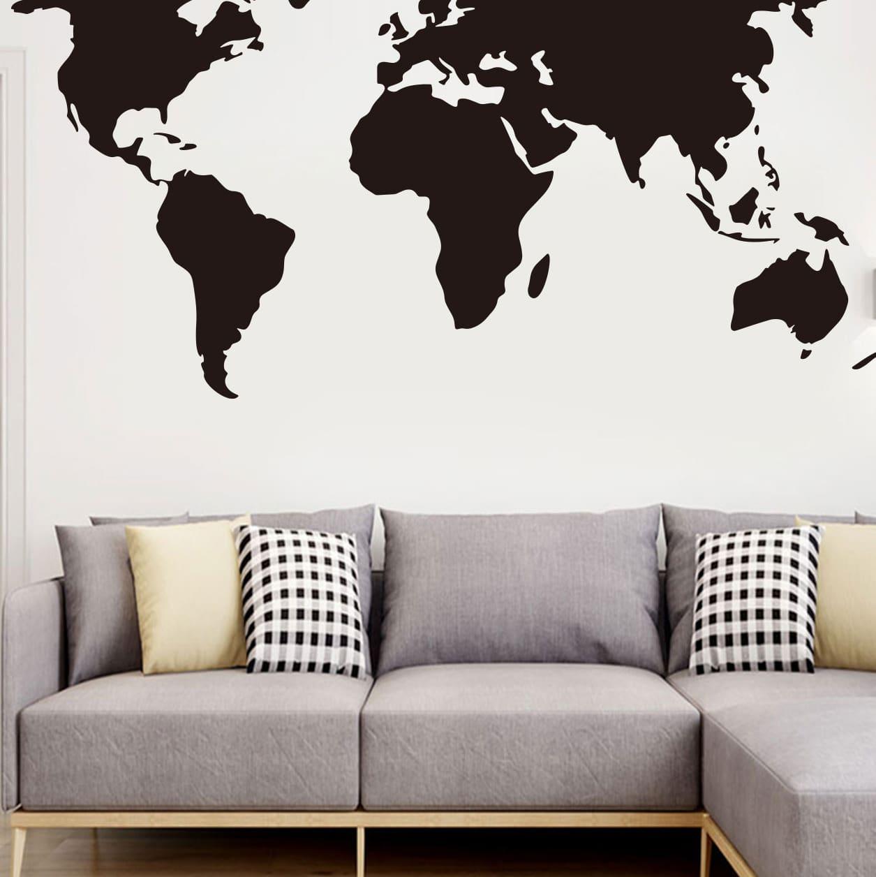 SHEIN / Wandaufkleber mit Weltkarte Muster