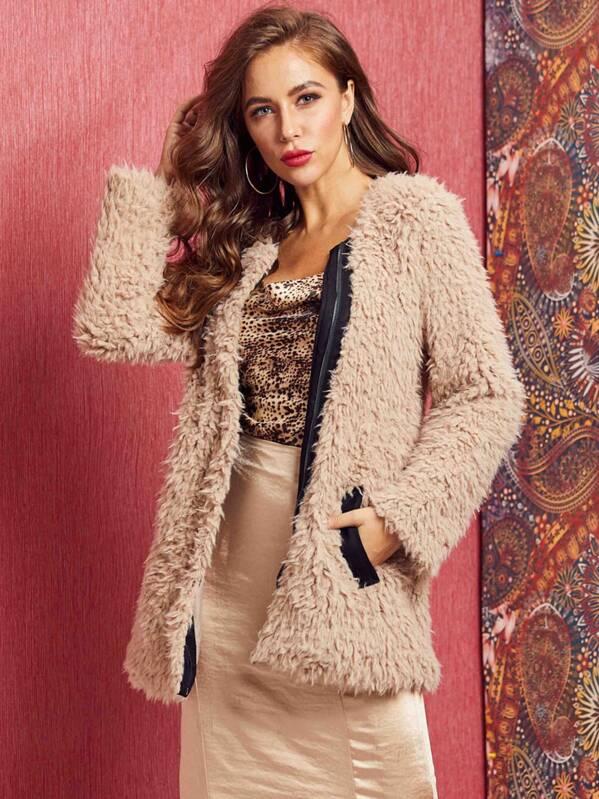 SBetro Zip Up Teddy Coat, Hanna