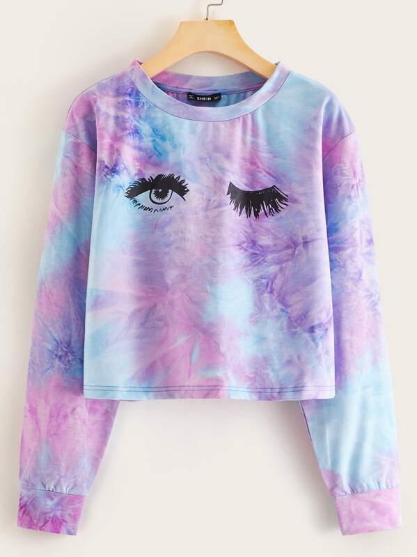 Figure Graphic Tie Dye Pullover, Multicolor