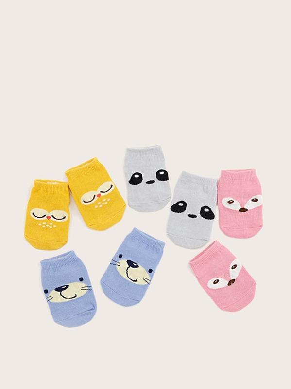4pairs Baby Cartoon Pattern Socks