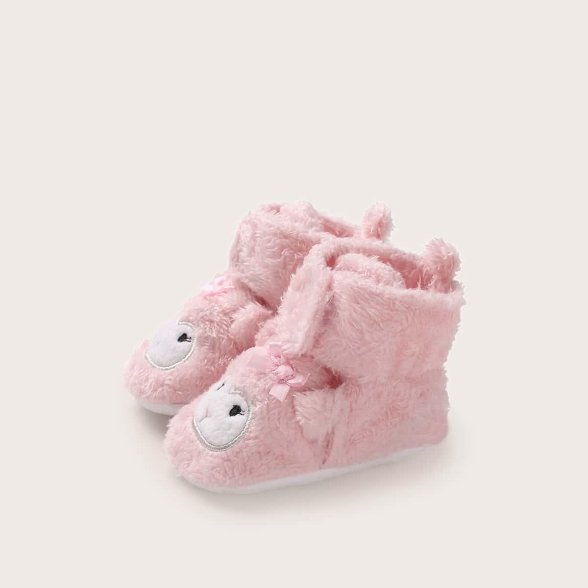 Roze  Schattig Spotprent Baby laarsjes