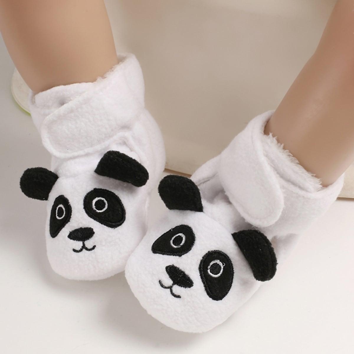 Zwart & wit Comfortabel Spotprent Baby laarsjes
