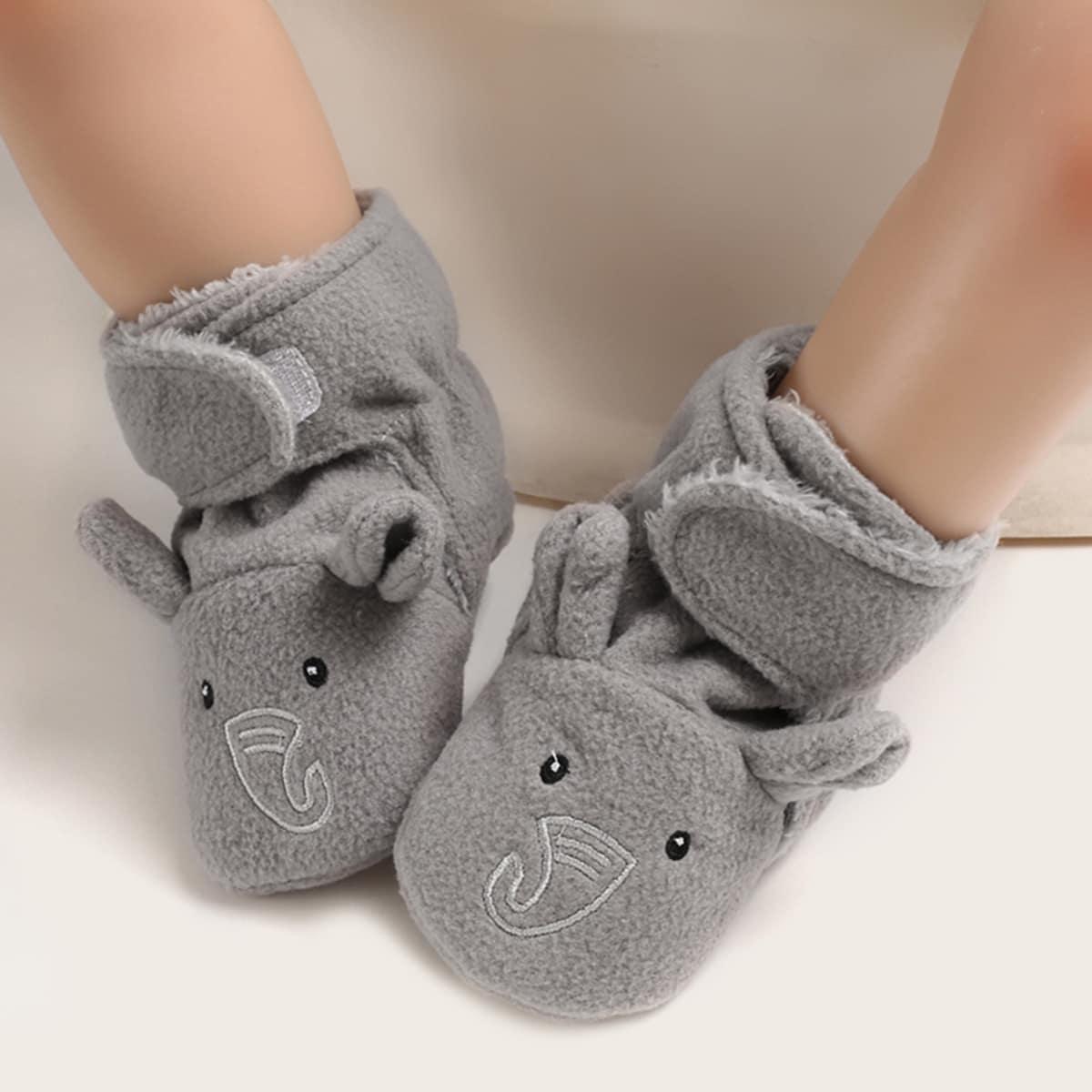 Grijs Comfortabel Spotprent Baby laarsjes