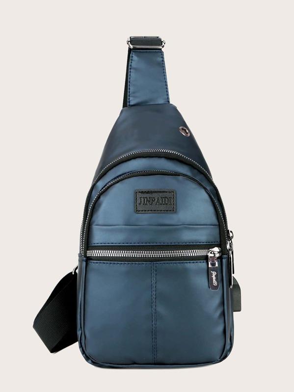 Men Pocket Front Sling Bag