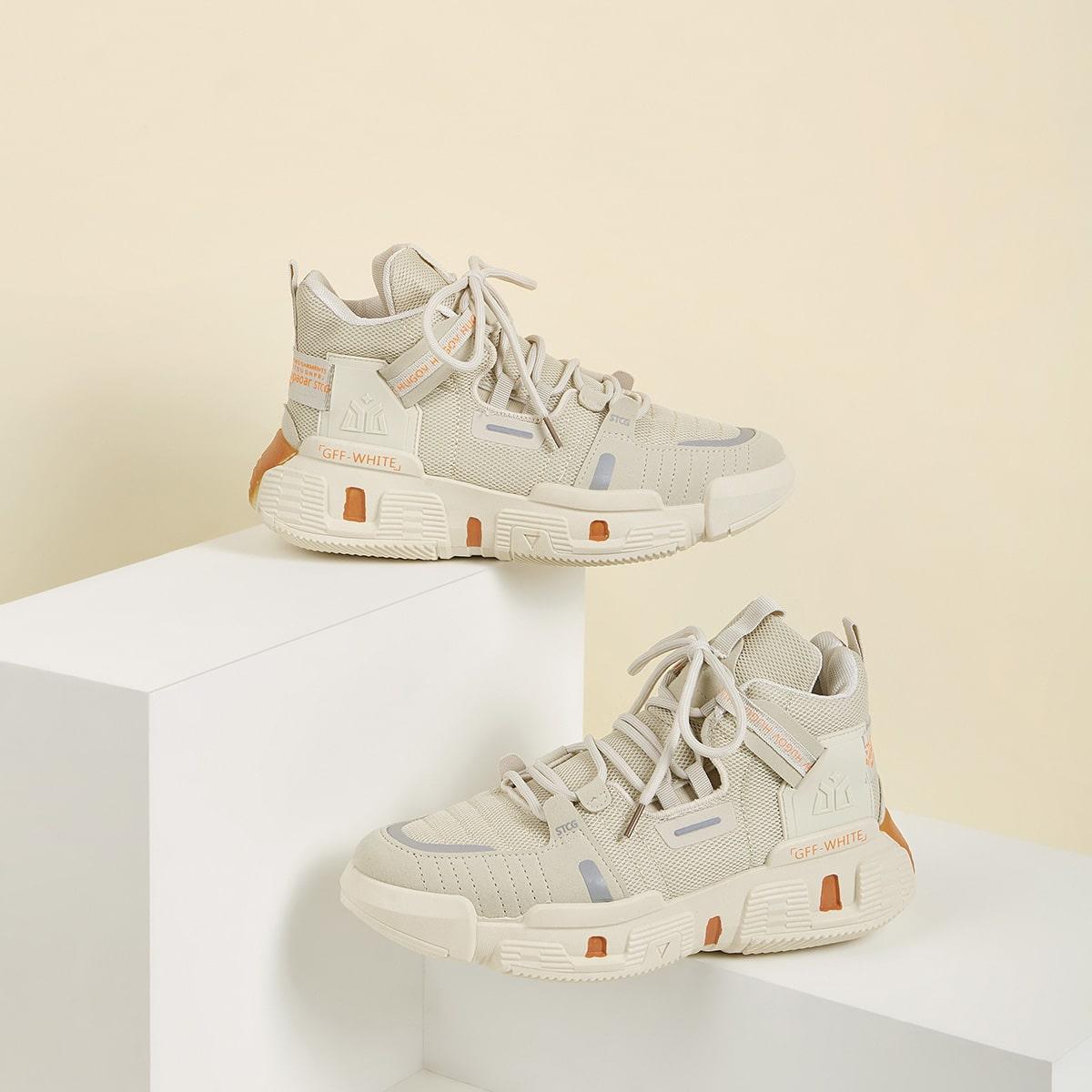 Beige Comfortabel Heren sneakers