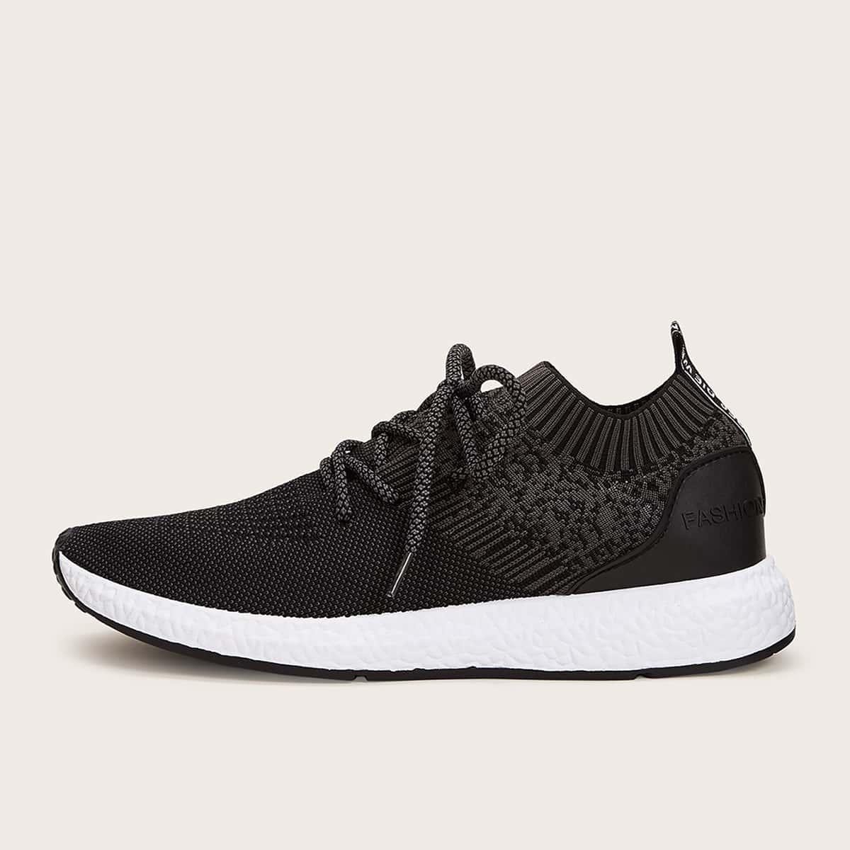 Zwart Comfortabel Heren sneakers