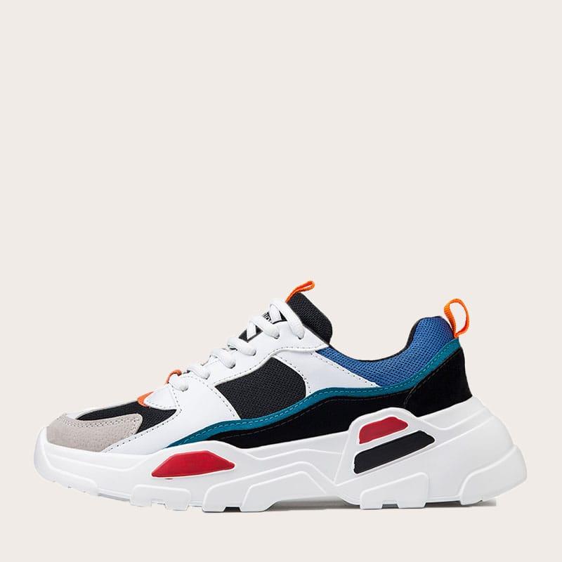 Veel kleurig Comfortabel Tekst Heren sneakers