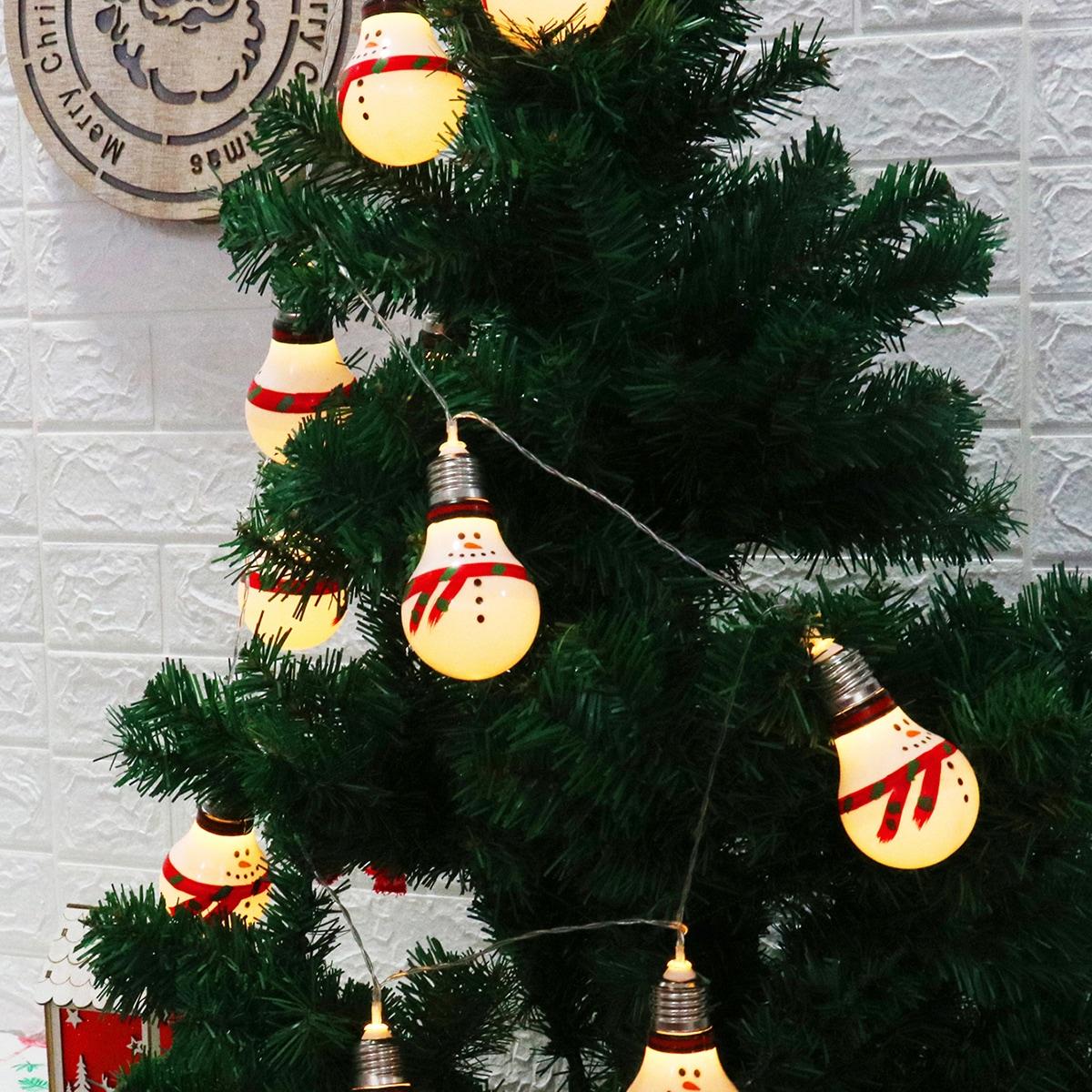 10 stks Christmas Snowman Bulb String Light