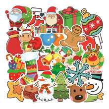 101pcs Cartoon Christmas Print Sticker