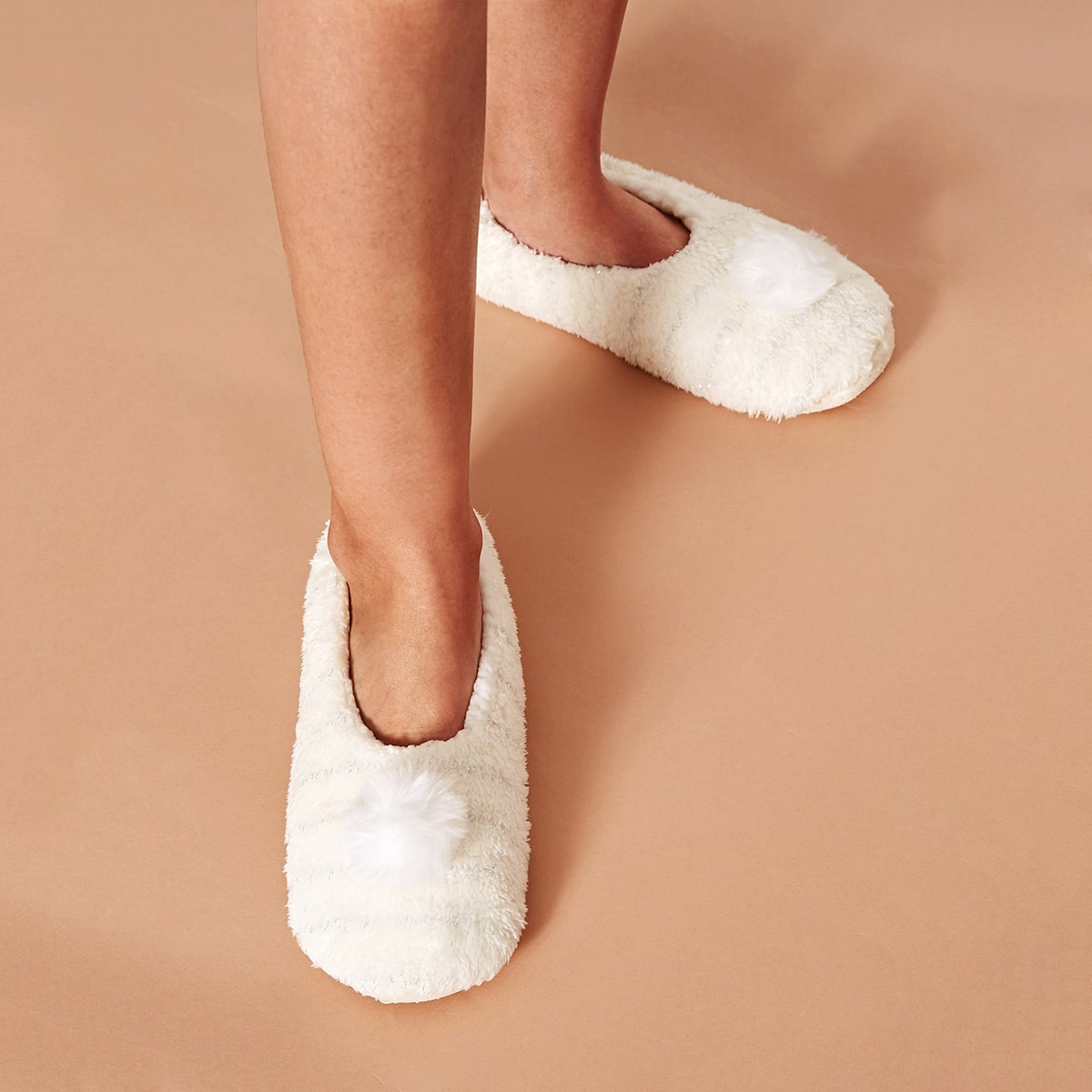 Wit Comfortabel Slippers
