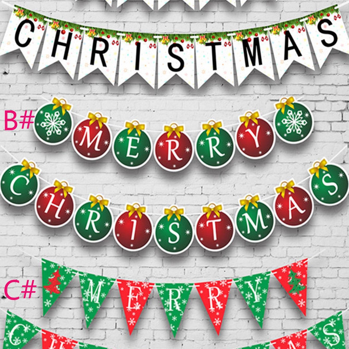 1pc Letter Merry Christmas Print String Vlag