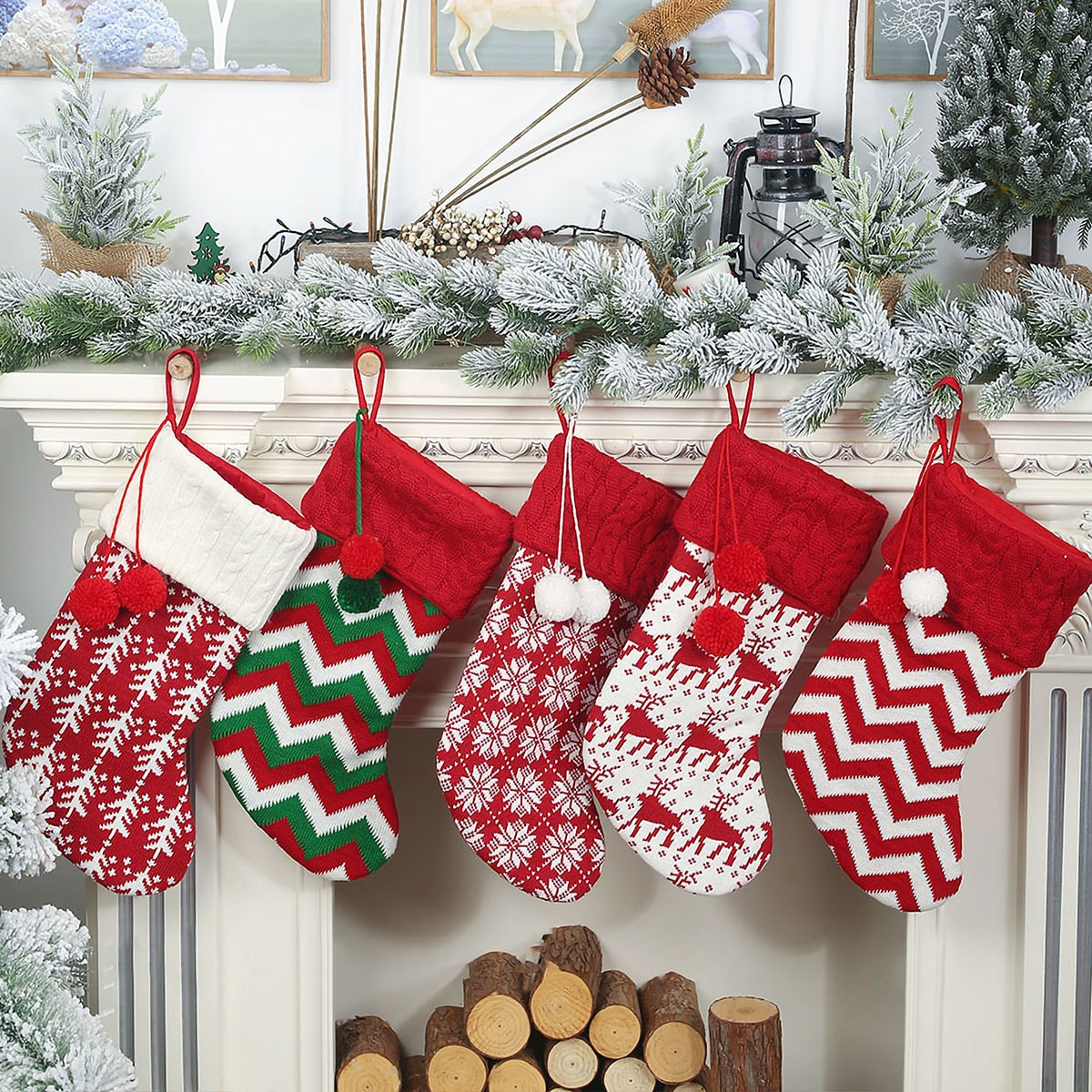 1pc kerstsok hanger ornament