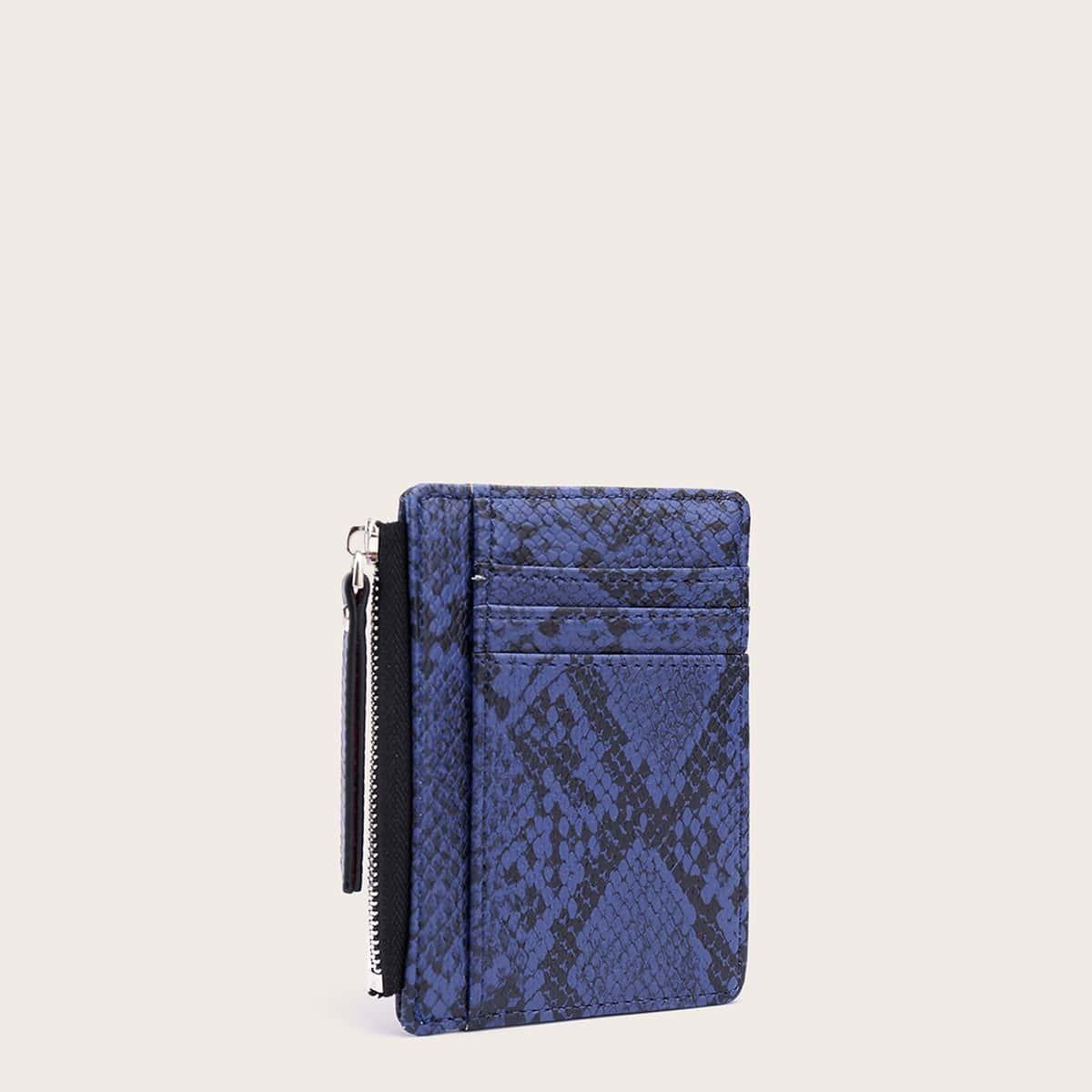 Змеиный кошелек с обложкой для карты от SHEIN